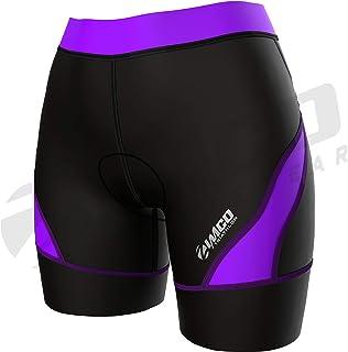Zimco Core 女士铁人三项短裤 | 铁人三项短裤 | 女式铁人三项短裤 | 女士 8 英寸铁人三项自行车短裤