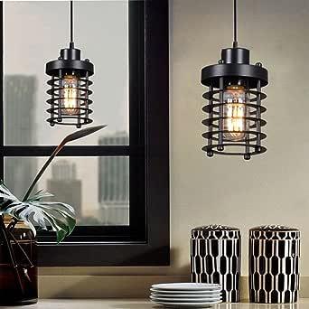 H&A 工业照明装饰吊灯吊灯灯具复古天花板灯带爱迪生 LED 灯泡 圆柱