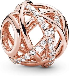 Pandora 潘多拉 781388CZ 女士银河魅力,粉红色,10 x 10 毫米