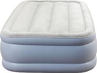 Simmons Beautyrest Hi-Loft Express 充气气气气床垫:凸起外形空气床,带外置泵,全尺寸 蓝色/白色 两个 MM02217TW
