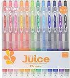 Pilot 百乐 Juice 凝胶墨水圆珠笔,0.38毫米,12颜色组(LJU120UF-12C)
