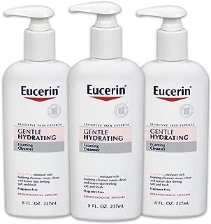 Eucerin 優色林 BEIERSDORF536300 溫和保濕泡沫潔面乳-無香料,溫和潔面-8液體盎司(237ml)按壓瓶,3件裝