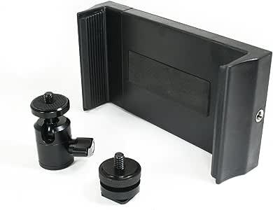 Livestream® 齿轮 - 迷你球头带锁和热靴适配器相机支架与 DLSR 相机一起使用。 可轻松连接手机支架、闪光灯、触发器或扩散器。127 Ball Head Tablet Set