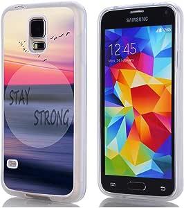 S5 手机壳,Hungo TPU 橡胶手机壳适用于三星 Galaxy S5 G9008V G9006W 手机壳复古您是疯狂的博人,但我Ll Tell You A Secret All Of The Best People Are #1
