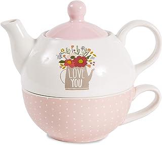 Pavilion Gift Company 55207 Love You 茶壶和杯,425 克
