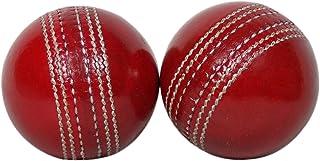KSZ TRADERS 板球皮球(2 件套)A 级手工缝制 红色