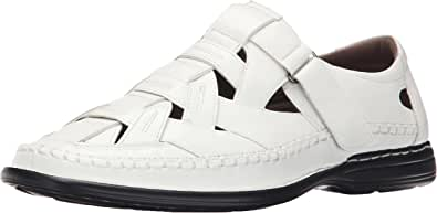 Stacy Adams 男士 Biscayne 渔夫凉鞋 白色 16 M US