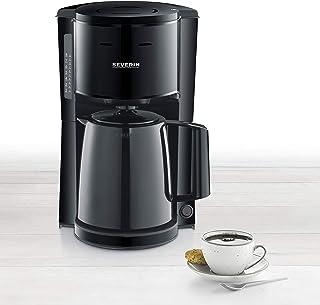 SEVERIN KA 9250 过滤式咖啡机 带保温壶 约 1000 W 至 8 杯 旋转过滤器 1 × 4 带滴水锁 自动关闭 冲泡盖