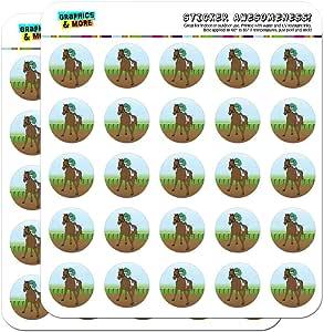 """马赛赛车 Jockey 1"""" 计划员日历剪贴簿手工贴纸 不透明 SCRAP.STICK01.07424"""