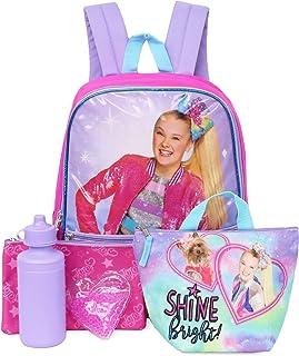 Nickelodeon JoJo Siwa 全尺寸 5 件套背包,带午餐盒和配件 闪亮明亮