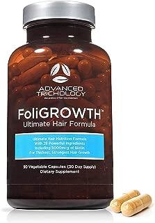 FoliGROWTH Ultimate Hair Growth Vitamin - Gluten Free, Vegan Formula, 3rd Party Tested - High Potency Biotin, Hair Loss Supplements ?? Hair Skin and Nails Vitamins - Hair Growth Products Guaranteed