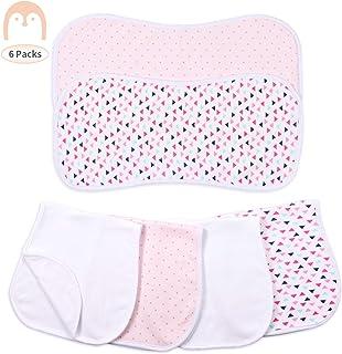 """Momcozy 婴儿饱嗝布,6件装,新生儿饱嗝布,柔软吸水打嗝围嘴,适用于吐奶和溢出,男孩和女孩,20""""x10"""""""