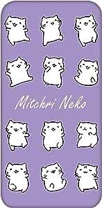 Mitchiri 猫 手机壳 透明 TPU 印刷 白色系列WN-LC1138472 6_ らくらくスマートフォン4 F-04J みっちりねこホワイトシリーズH