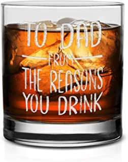 NeeNoNex To Dad From The Reasons You Drink 威士忌玻璃杯 Whiskey Glass 11 oz.