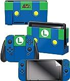 "Controller Gear 任天堂开关皮肤和屏幕保护膜套装,任天堂 - *马里奥 - 任天堂开关; Evergreen ""Luigi's Outfit"""