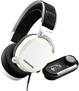 SteelSeries 赛睿 Arctis Pro GameDAC - 游戏耳机 - 认证高分辨率音频 - ESS Sabre DAC - 白色