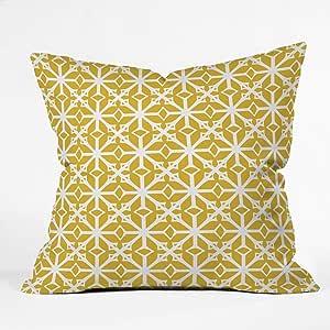 "Deny Designs Heather Dutton Entangled 室内抱枕 Diamante Gold 20"" x 20"" 61306 - othrp20"