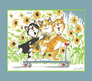 Fun Rugs Wags and Whiskers Duckport Kitties Take A Ride Juvenile Accent Rug, 39-Inch by 58-Inch