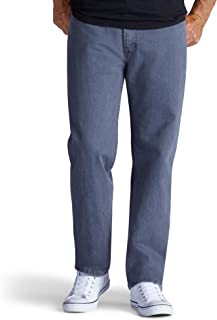 Lee 男式休闲合身直腿牛仔裤