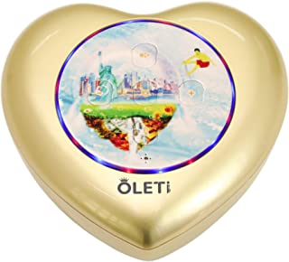 Great Differentiated - Oleti Heart Alexa 音箱具有 7 合 1 功能,金色梦想和金色声音,不同的水晶和照明,4 个额外的DIY礼品标签适合生日或爱你或VIP或获胜者
