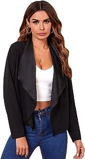 Verdusa 女式瀑布领前开襟长袖夹克外套
