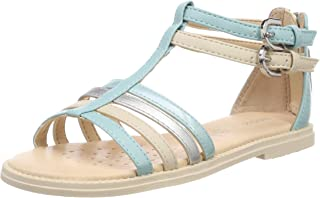 Geox 女童 J Karly D 露趾凉鞋