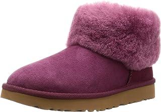 Ugg 羊皮靴 CLASSIC MINI FLUFF 女士 ブーゲンビリア 25.0 cm