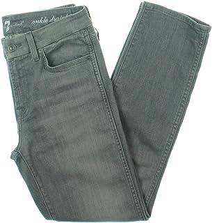 7 For All Mankind 女士伦敦修身直筒及踝牛仔裤
