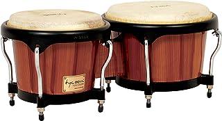 Tycoon Percussion 7 英寸 & 8 1/2 英寸艺术家系列手绘竹制品 - 棕色饰面
