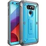 LG G6手机壳 SUPCASE 全包坚固皮套保护套内置屏幕保护适用于 LG G62017版 UNICORN BEETLE PRO 系列–零售包装 蓝色/黑色