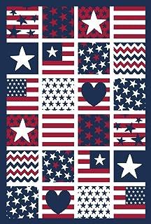 Toland Home 花园爱国贴片装饰 31.75 厘米 x 45.72 厘米星条 美国 花园旗帜 Large-House- 28 x 40 Inch 1110926