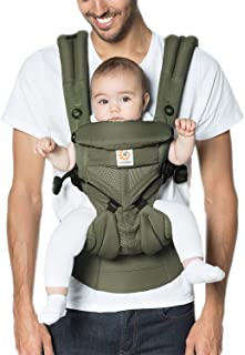 Ergobaby Baby Carrier for Newborn up to 3 Years, 360 Cool Air Khaki Green, 4 Ergonomic Carry Positions Front Back Front Facing, Backpack Carrier