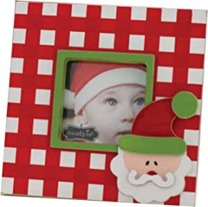 Mud Pie Santa Baby Picture Frame, Santa (Discontinued by Manufacturer)