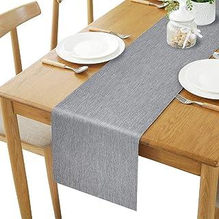 桌旗,Rifny 餐垫耐热可水洗编织乙烯基餐垫餐桌擦拭干净 35.56 x 182.88 厘米