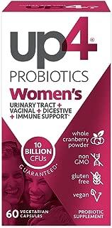 up4 女性高級護理益生菌補充劑| 有益于陰道 | 250億CFUs| 不含麩質,素食| 60粒素食膠囊