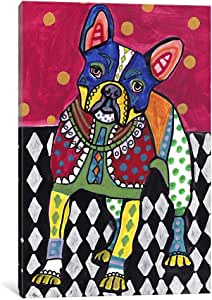 iCanvasART HGL31 French Bulldog by Heather Galler Canvas Print, 26-Inch by 18-Inch, 0.75-Inch Deep