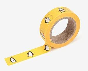 优质水洗胶带 Welsh Corgi DIY,剪贴簿,规划员,礼品包装 - Love My Tapes 设计出的可爱威尔士科吉犬图案 1.59 cm 宽 x 82.04 cm 长 Penguin 92 LMT-072