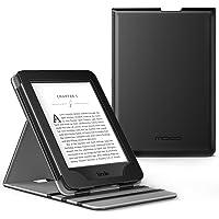 美国MoKo 亚马逊Kindle Paperwhite保护套(适用于1代/2代/3代) KPW3垂直翻转保护皮套 适配全新Kindle Paperwhite 958元版多角度支撑保护套 翻盖休眠亚马逊电子书阅读器保护壳 经典黑