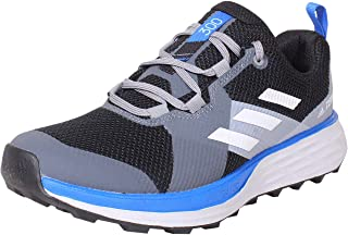 adidas Terrex Two Trail 男式跑鞋 Core Black / Grey One / Glow Blue 8