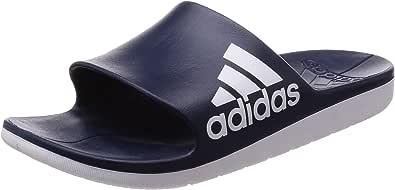 adidas 男式 aqualette CF 海滩和游泳池 SHOES Blue (Collegiate Navy/Footwear White/Footwear White) 11 UK