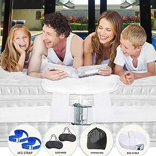 Bed Bridge Premium 间隙填充器 - 双倍加大号转换器套装 - 家庭床间隙填充器 - 双人床连接件 - 11.81 英寸宽和 6.56 英尺长 - 坚固稳定的床垫连接器 - 包括 2 个眼罩和储物袋和 2 条腿带