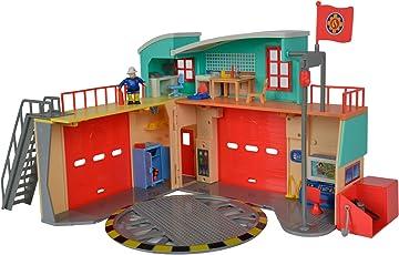 Simba 仙霸玩具109258282 - 消防员山姆新消防站 折叠玩具,带人偶