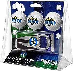LinksWalker NCAA Morehead 州立大学鹰队 - 3 个球礼品包,带 Hat Trick 球叉