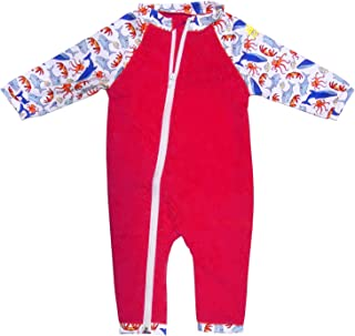 Nozone 全拉链*婴儿泳衣 - 多种颜色可选 - UPF 50+
