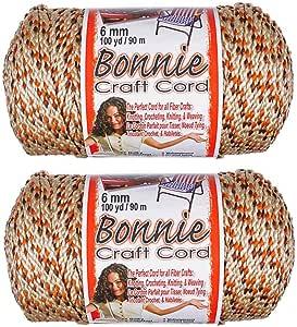 2 件装 6mm Bonnie 绳子 - 非常适合各种手工艺和手工艺品 - 100 码线多色 All Spice 2PK-BNC6MM-ALLSPICE-~CRAFT_RM618