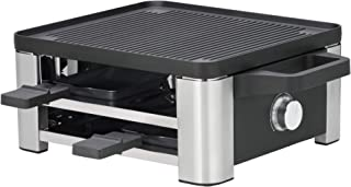 WMF 福騰寶 Lono Raclette 燒烤爐 可容納 4 人 帶平底鍋和推桿 870 W cromargan 亞光/銀色