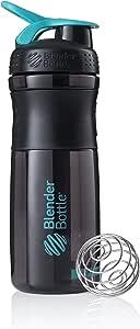 BlenderBottle SportMixer 透明 黑色/青绿色 28 Ounce 500111