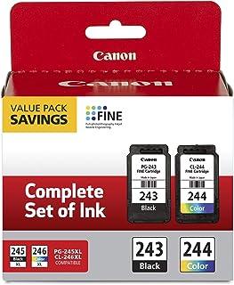 Canon 佳能 PG-243 黑色墨盒和 CL-244 彩色墨水多件装,兼容 MX492、MG2520、MG2922、MX490