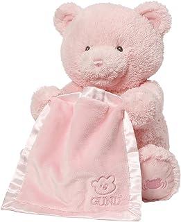 GUND 婴儿 MY First 泰迪熊躲猫猫动画婴儿填充动物玩具 粉色