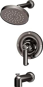 Symmons 5302-BLK-TRM Museo 单把手浴缸和淋浴水龙头装饰,石墨抛光(不含阀门),黑色